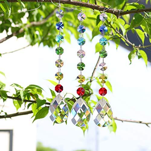 l Regenbogen Sonnenfänger Chakra Farben Perlen Fenster Hängend Anhänger ()