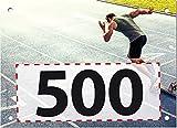500 Startnummern Sprint, Papier classic-race, Format 20 x 14,5 cm (ca. DIN A5), nummeriert von Nummer 1