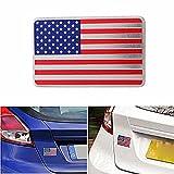 C-FUNN Voiture Américain USA Drapeau Emblème Autocollant Badge Métal Sticker Decor Universel pour Camion Auto
