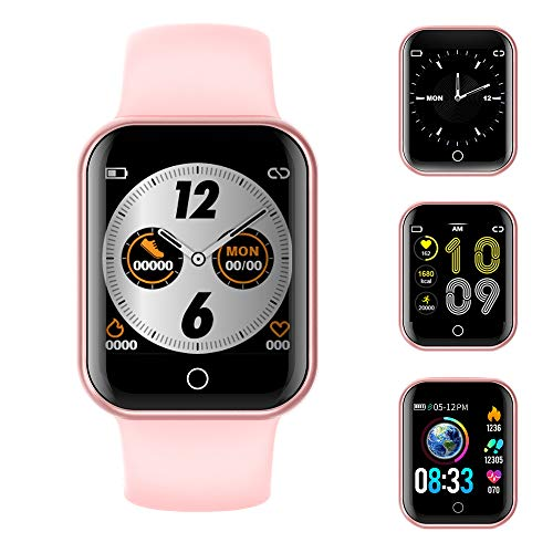 Smartwatch, Fitness Armband Wasserdicht IP68 Sport Uhr mit Blutdruckmessung, Pulsuhren, Schrittzähler, Kalorienzähler, 1.4 \'\'Color Screen Bluetooth Smart Watch für Damen Herren Aktivitäts Tracker
