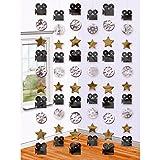 NET TOYS 6 Colgantes Decorativos Hollywood - 210 cm | Decoración para Colgar Cine | Adornos Colgantes Oscar | Guirnalda Cumpleaños