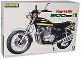 Aoshima Kawasaki 900 Super 4 Z1 Gelb Schwarz 1975 040980 Kit Bausatz 1/12 Modell Motorrad Modell Auto