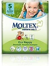 caja de cartón - 104 unidades MOLTEX Nature No1 pañales ecológicos bio oso pañales bebés JUNIOR Gr 5 (11-25 kg) 4x 26 unidades