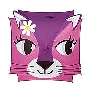 Durante i giorni di pioggia, proteggiti con questo ombrello gatto. Aperto, La tela è di forma quadrata e rappresenta una testa di gatto rosa con occhi grandi. Le orecchie superano, formando un ombrello molto divertente. Questo ombrello ha una...