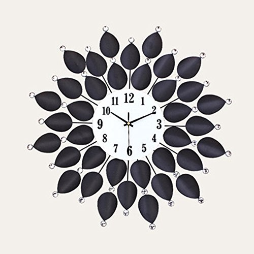 CivilWeaEU- Living Room Wall Clock Style Européen Ultra-Calme Chambre Minimaliste Moderne Pastorale Art Décoratif Quartz Horloge Table Suspendue