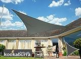 Kookaburra Gewebtes Sonnensegel (Wasserfest) Dreieck, Anthrazit, 5m x 5m x 5m