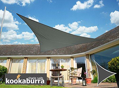 Kookaburra Tende A Vela  Triangolare 5.0 m, Grigio Carbone, Tessuto Impermeabile