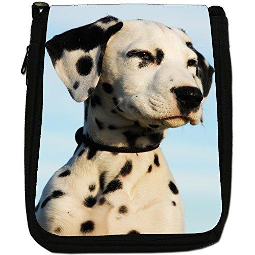 Cane dalmata Medium Nero Borsa In Tela, taglia M Pure Bred Dalmatian Puppy
