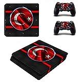 Playstation 4 Slim + 2 Controller Aufkleber Schutzfolien Set - Türkei /PS4 S