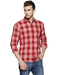 Wrangler Men's Checkered Regular Fit Casual Shirt