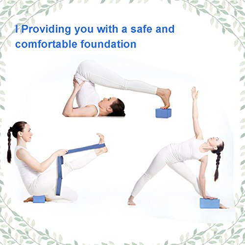 241b8c6daa Creation 2pcs Yoga Blocks + 1 Yoga Strap Yoga Starter Kit,Strong Firm  Lightweight EVA foam, Suit for Yoga, Pilates Lovers