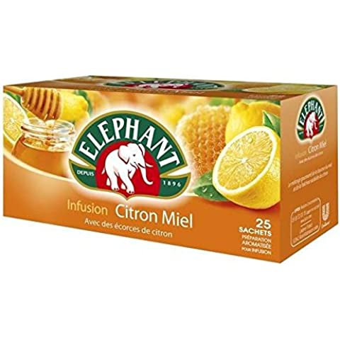 Lipton elephant-limón miel 25 bolsas () caja