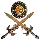 Halo Nation Kids Warrior Set - Knights Fancy Dress Kids Cosplay - with 2 Swords and Shield for Bahubali Kids