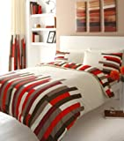 RED DOUBLE DUVET COVER BED SET by HOMEMAKER BEDDING