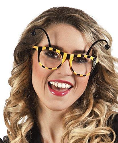 erdbeerclown - Flotte Biene Brille Kostüm, Gelb