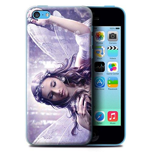 Officiel Elena Dudina Coque / Etui pour Apple iPhone 8 Plus / Robe Fleur/Mariée Design / Fées Élégantes Collection Flocon Neige Céleste