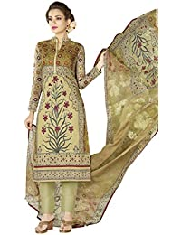 Urban India Multicoloured Cotton Straight Semi-Stitched Suit