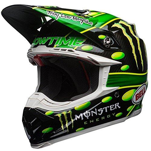 Bell Helmet Moto-9 Flex Mcgrath Monster, Grün/Schwarz, Größe S