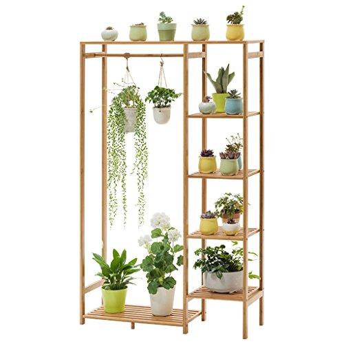 Zequan espositore multi-strato portabottiglie in legno massello, portaoggetti in bambù, decorazione soggiorno/balcone stand di fiori
