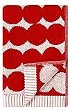 Marimekko - RÄSYMATTO - Handtuch - Gästehandtuch - Baumwolle - rot/weiß - 30X50 cm