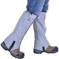 Eagsouni® Impermeable al Aire Libre y Polainas Prueba de Viento Guardia de Protección para Las Piernas Senderismo Esquí Escalada