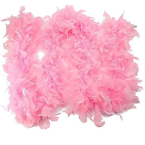 OverDose Damen Qualität Weiße Federboa Flapper Hen Night Burlesque Bar Dance Party Zeigen Mode Kostüm Langen ()