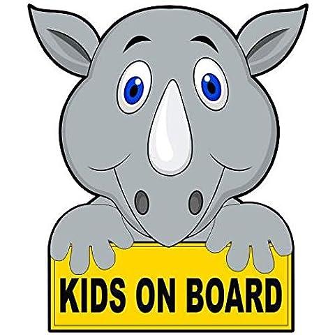 Kids On Board - Rhino Car Sticker