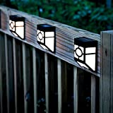 niceEshop(TM)Solar Lights for Wall, porch, garden, fence, path, walkway; Sun powered outdoor Patio Deck Yard lamps, dusk to dawn sensor(White Light)