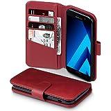 Galaxy A5 2017 Case, Terrapin [ECHT LEDER] Brieftasche Case Hülle mit Kartenfächer und Bargeld für Samsung Galaxy A5 2017 Hülle Rot
