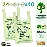 Palucart scatolo da 500 shopper biodegradabili compostabili a norma 2018 (24+6+6x40)