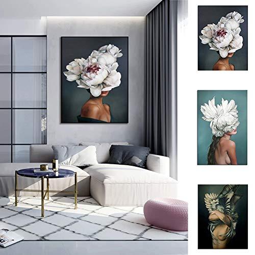 Homeofying Abstraktes Gemälde mit Federfrau, modern, Dekoration, Poster – 1# 20 x 30 cm, Holz, 3#, 30 * 40cm