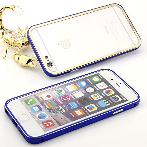 Original Urcover® Apple iPhone 6 Plus /6s Plus Aluminium Bumper ( 5.5 Zoll) Case Schutz Hülle [DEUTSCHER FACHHANDEL] Alu Metal Rahmen Cover iphone6 Hell Blau Schwarz