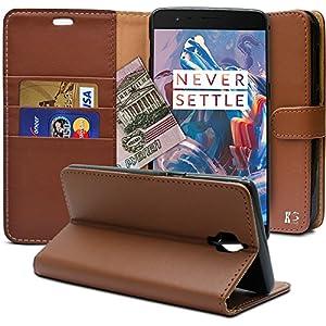 Oneplus 3 Hülle, KingShark [Ständer Funktion] Oneplus 3 Schutzhülle, Premium PU Leder Flip Tasche Case mit Integrierten Kartensteckplätzen und Ständer für Oneplus 3