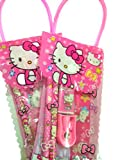 #9: Online Khajana Hello Kitty Stationery Kit for Kids | Contains Cartoon Character Pouch with Pencil, Sharpener, Eraser, Scale | Ideal for School / Drawing / Birthday / Return Gifts / Girls