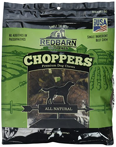 Redbarn Pet Choppers Sizzling Beef Lung Flavor USA Made Dogs Chewable Treat 9z