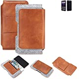 K-S-Trade Gürteltasche für ZTE Blade V8 64 GB Gürtel Tasche Schutz Hülle Hüfttasche Belt Case Schutzhülle Handy Hülle Smartphone Sleeve aus Filz + Kunstleder (1 St.)
