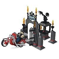 Undertaker w / ingresso Motorcycle Stack Giù Playset WWE Wrestling Toy Action Figures e playset di The Bridge! Funziona con Catene principali! Ages 6 + Undertaker Stack Giù figura e Motocicli inclusi. Le cifre hanno 12 punti di articolazione! 122 pez...