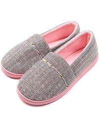 YOOEEN Zapatillas de Estar por Casa para Mujer Invierno Ligero Suave Zapatos  de Algodón Comodo Transpirable 58b7c4549b27