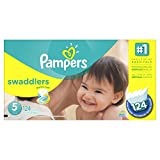 Pampers Swaddlers Diapers Size 5 Economy Pack Plus 124 Count by Pampers
