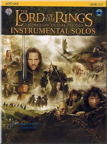 The lord of the rings (le seigneur des anneaux-instrument solos saxophone alto, baryton-notes de musique   notes