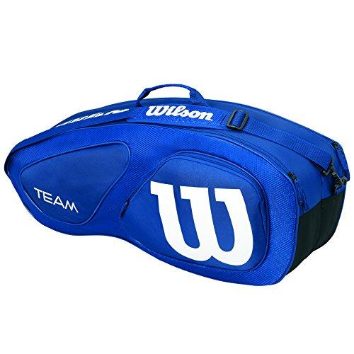 Wilson Damen/Herren-Tennistasche, Für Spieler aller Spielstärken, Team II 6PK, Einheitsgröße, blau, WRZ852606