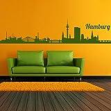 denoda Hamburg Skyline - Wandtattoo Beige 328 x 75 cm (Wandsticker Wanddekoration Wohndeko Wohnzimmer Kinderzimmer Schlafzimmer Wand Aufkleber)