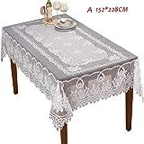 Tischdecke aus Spitze - handgemachte runde Spitze Tischdecke häkeln , runde Tischdecke elegante Blumenmuster - dickes Jacquard beige rechteckige runde Tischdecke Tischset Tischdecke für Heim &