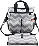 Changing Bags by NimNik | Diaper Bag w/ Changing Mat | Best Quality Designer for Girls Boys Twins | Shower Present for Mom Dad | Chevron