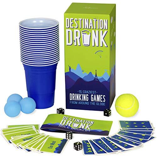 Gutter Games Destination Drunk – 15 Craziest Trinkspiele aus Around The Globe (Erwachsenen-Party-Spiele aus Japan, Peru, Deutschland, Russland und mehr)