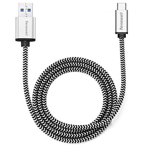 tenswall-cable-usb-c-a-usb-31-a-de-nylon-1m-gris-cable-de-carga-y-sincronizacion-para-dispositivos-d