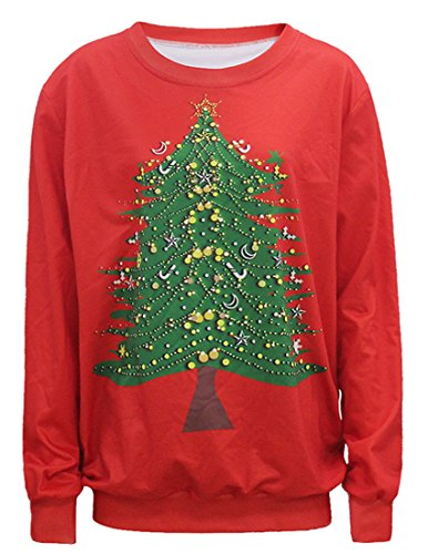 Belsen Femme Noël Sweat-shirts pull-over T-shirt tree