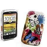 Butterfly Case Handy Schutz Hülle Hard Cover für HTC Desire