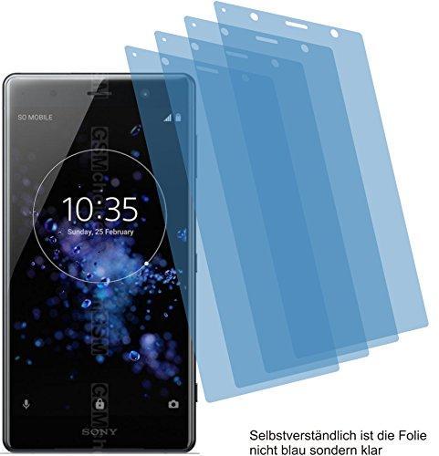 4ProTec 4X Crystal Clear klar Schutzfolie für Sony Xperia XZ2 Premium Bildschirmschutzfolie Displayschutzfolie Schutzhülle Bildschirmschutz Bildschirmfolie Folie