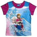 Frozen - Die Eiskönigin Kollektion 2016 T-Shirt 98 104 110 116 122 128 134 Mädchen Disney Shirt ELSA und Anna Bordeaux (110-116, Bordeaux)